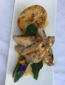 Pheasant breast cooked sous vide in Norfolk cider