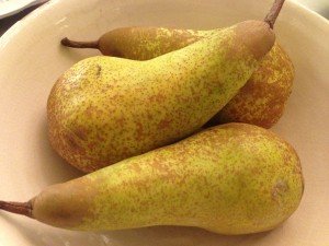 Keep your pears in the fruit bowl